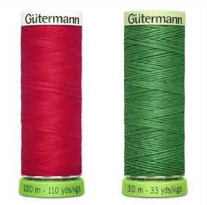 2 spools of Gutermann rPET thread