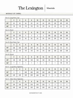 The Lexington PDF Sewing Pattern