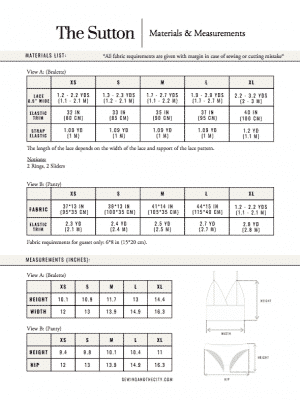 The Sutton PDF Sewing Pattern