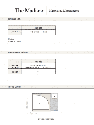 The Madison Turban PDF Sewing Pattern