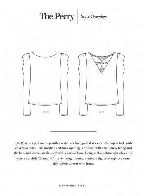 The Perry Top PDF Sewing Pattern