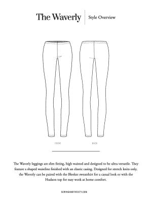 The Waverly Leggings PDF Sewing Pattern
